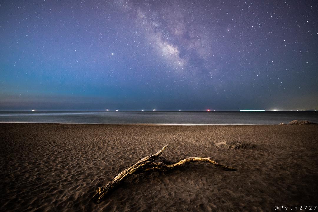 恋路ヶ浜へ星空の撮影に行きました(愛知県田原市)