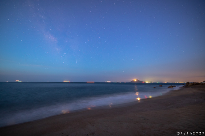 恋路ヶ浜の薄明