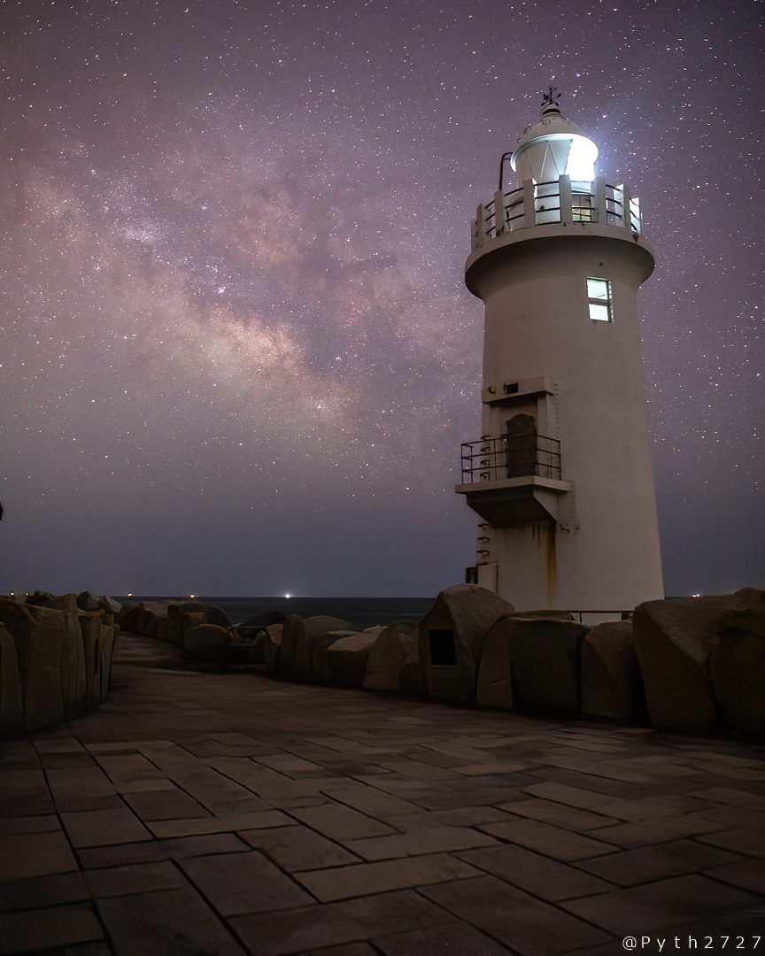 伊良湖岬灯台の星空
