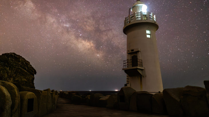 伊良湖岬灯台へ星空の撮影に行きました(愛知田原市県)