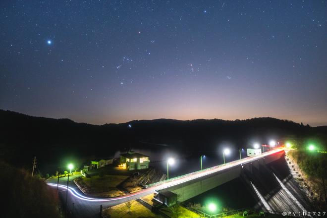 上津ダムへ星空の撮影に行きました(奈良県山添村)
