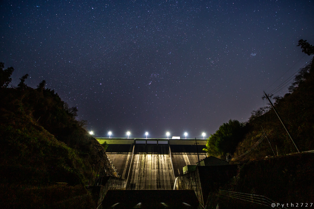 上津ダムの天の川