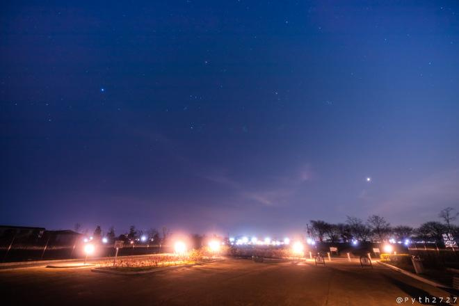 唐古・鍵遺跡史跡公園の星空