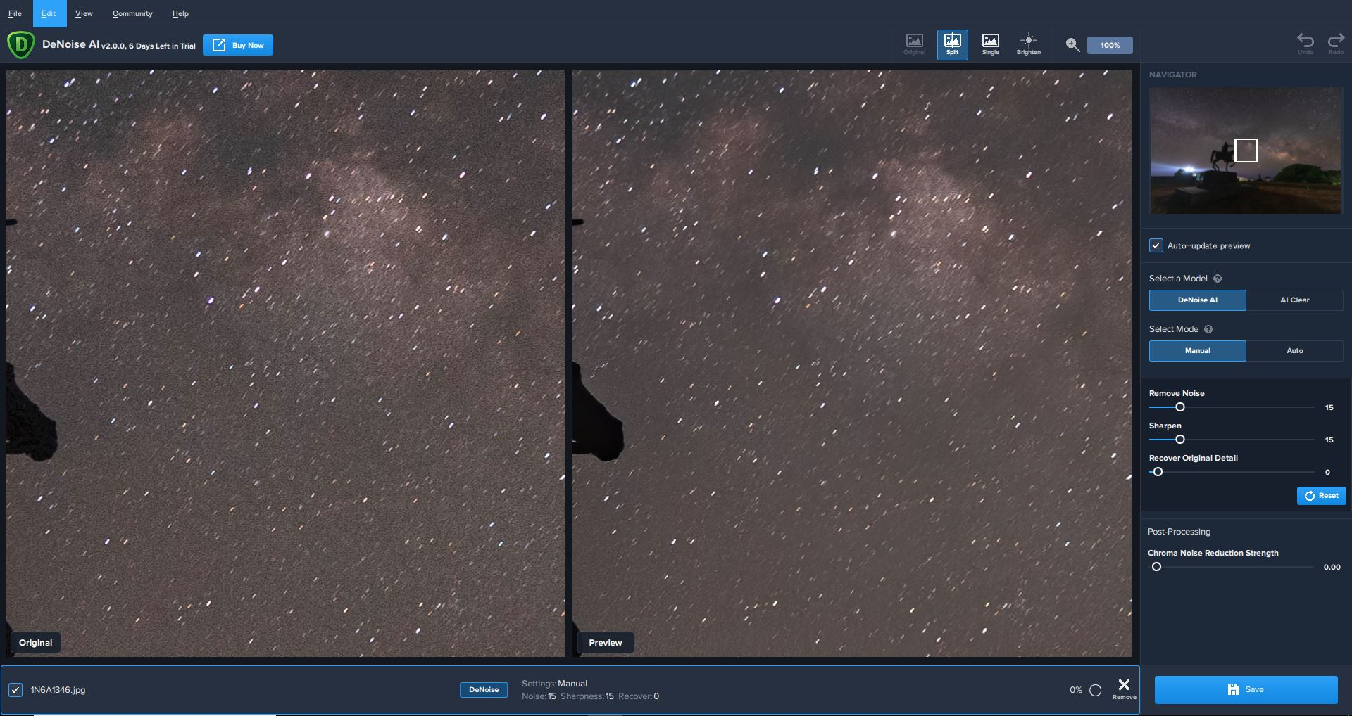 topaz Denoise Aiと星景写真