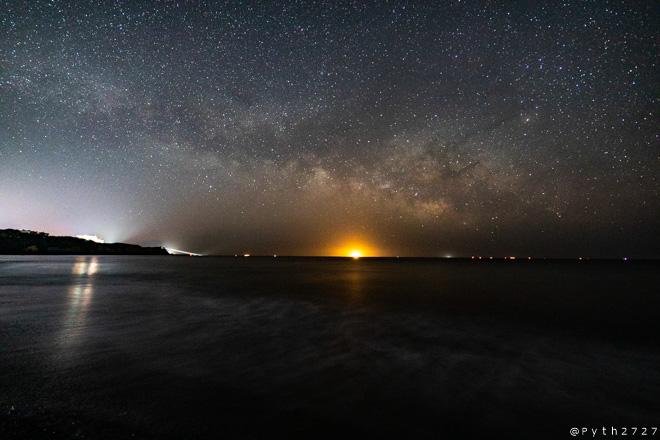 大野浜の星空