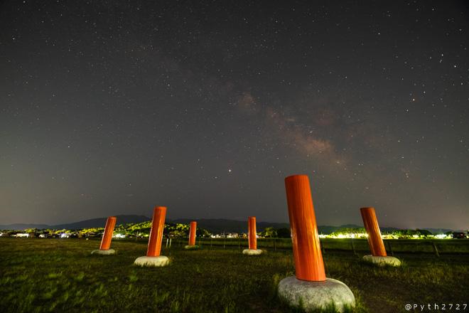 藤原宮跡へ夏の天の川を撮影に行きました(奈良県橿原市)