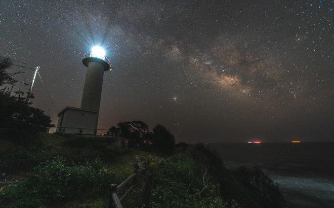 麦埼灯台へ星空の撮影に行きました(三重県志摩市)