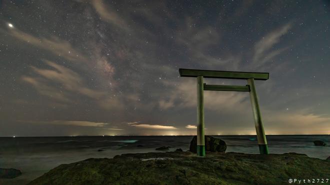 つぶて浦へ星空の撮影に行きました(愛知県南知多町)