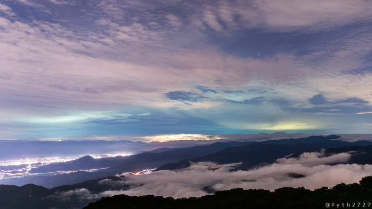関西圏で撮影したネオワイズ彗星(滋賀県・伊吹山)