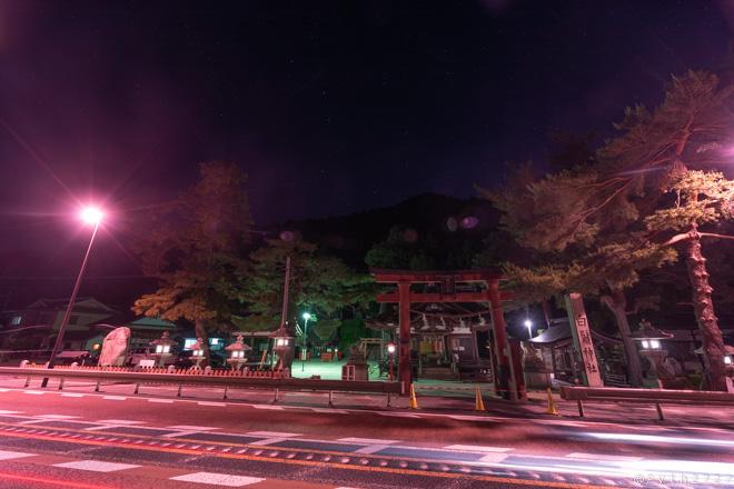 白髭神社 夜