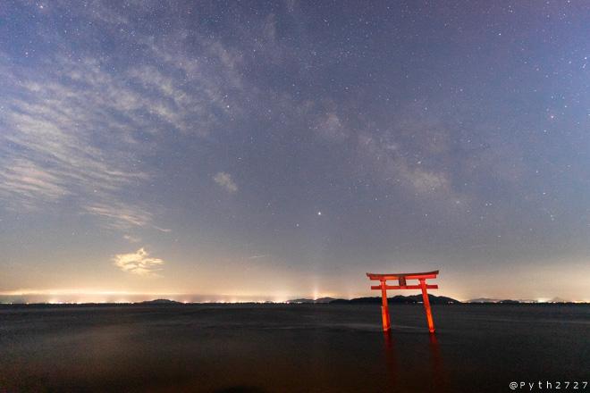 琵琶湖 星空