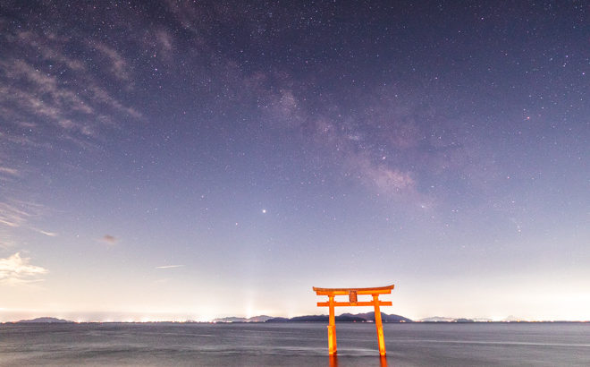 白鬚神社へ星空の撮影に行きました(滋賀県高島市)