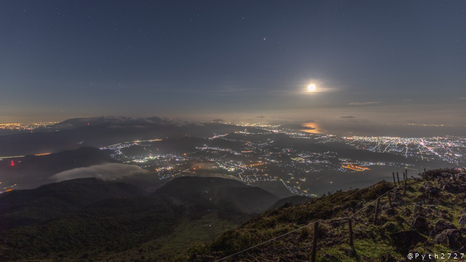 伊吹山 琵琶湖展望台 夜景