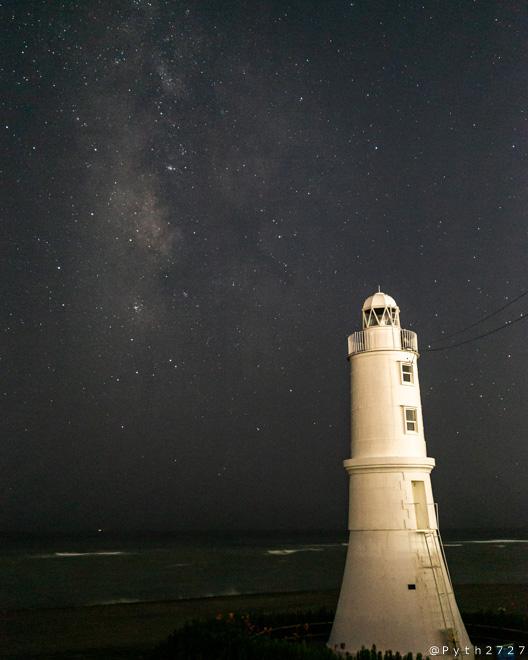 掛塚灯台 天の川