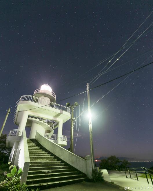 雑賀崎灯台 深夜