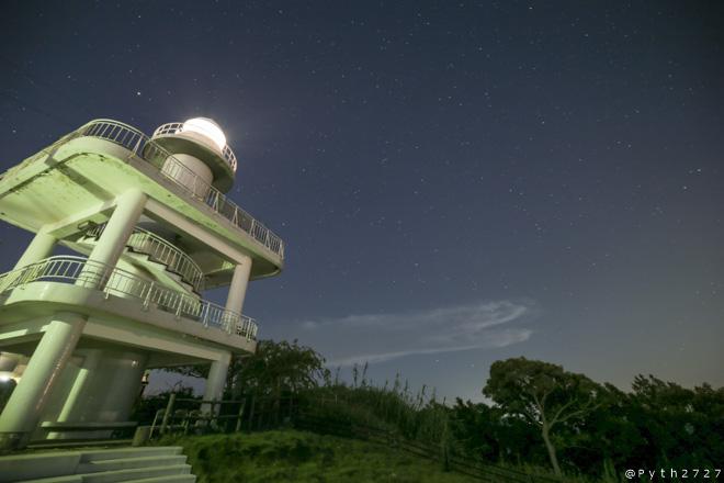 雑賀崎灯台 夜