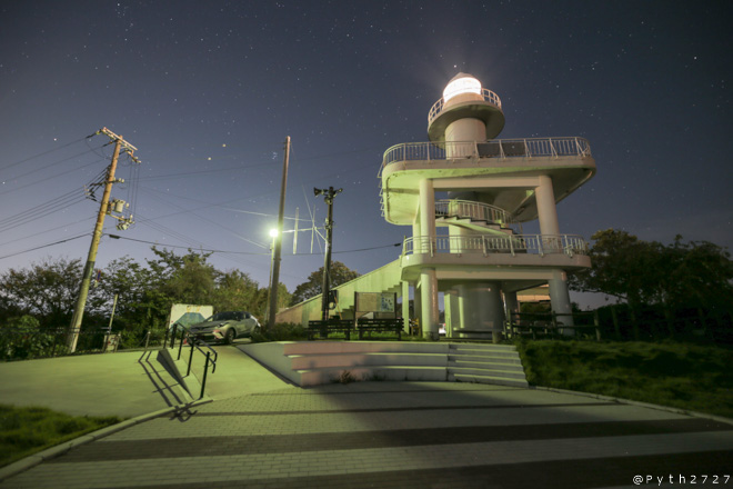 夜の雑賀崎灯台へ星空の撮影に行きました(和歌山県和歌山市)
