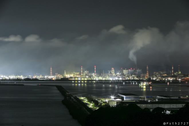 雑賀崎灯台 夜景