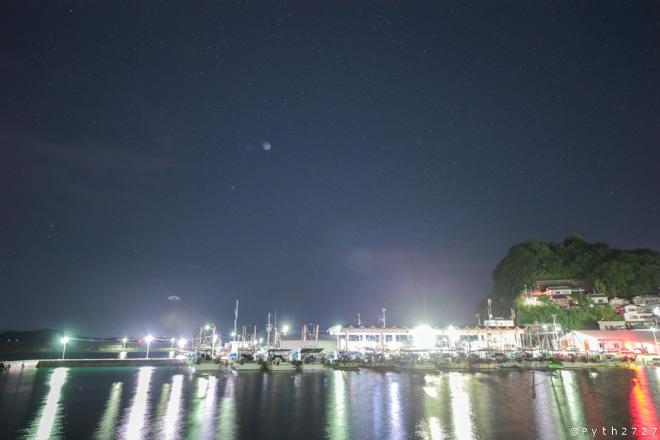 雑賀崎漁港 夜