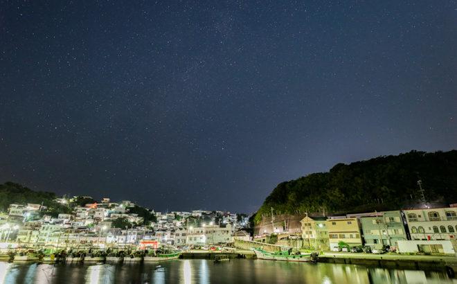 雑賀崎の夜景と星空の撮影に行きました(和歌山県和歌山市)