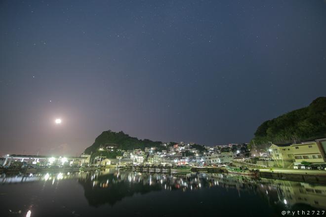 雑賀崎漁港 夜景