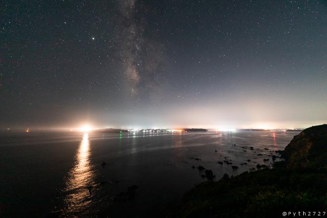 菅崎園地 夜景