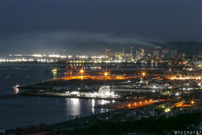 高津山展望台 夜景