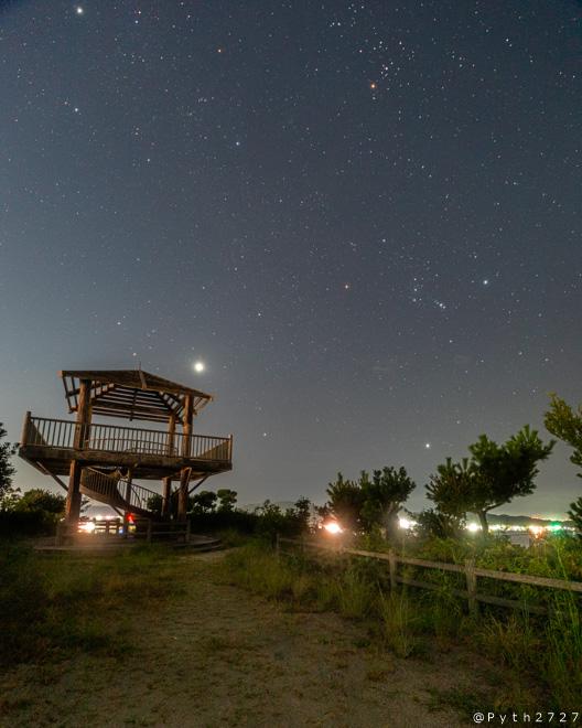 高津子山 展望台 夜