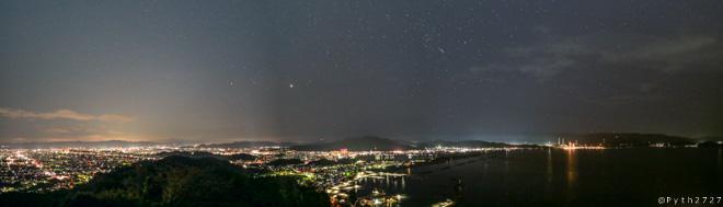 高津子山 夜景 パノラマ
