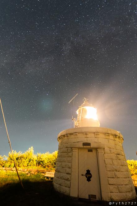 立石岬灯台 星景写真