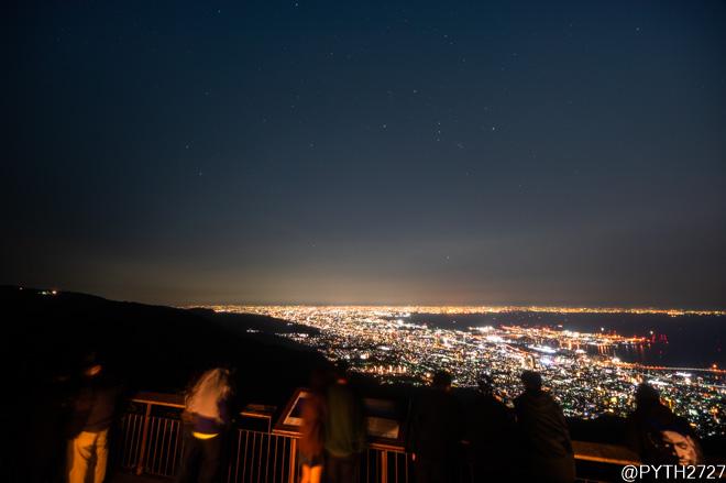 神戸 夜景 星空