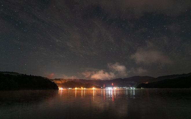 余呉湖へ星空の撮影に行きました(滋賀県長浜市)