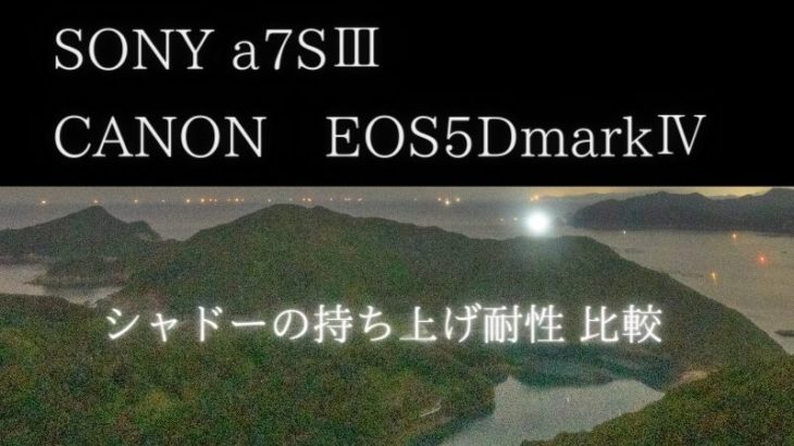 SONY a7SⅢのシャドー持ち上げ耐性、CANON EOS5DmarkⅣと比較(ダイナミックレンジ)