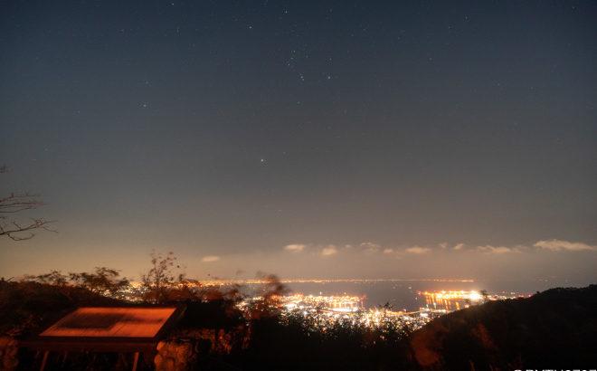 六甲山・鉢巻展望台へ星空と夜景の撮影に行きました(兵庫県神戸市)