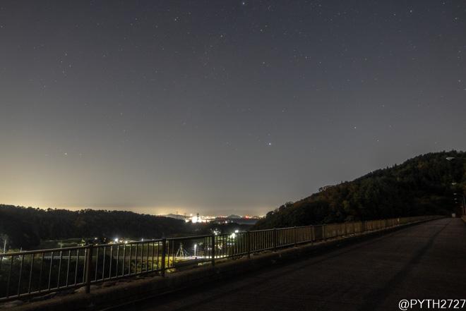 蔵王ダム 夜景