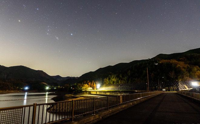 蔵王ダムへ星空の撮影に行きました(滋賀県日野町)