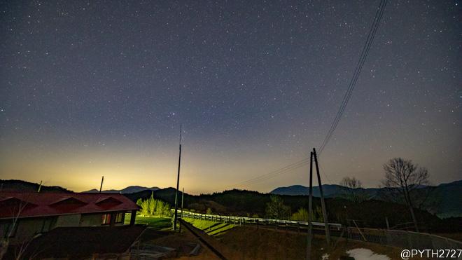 1月の天の川 奈良県