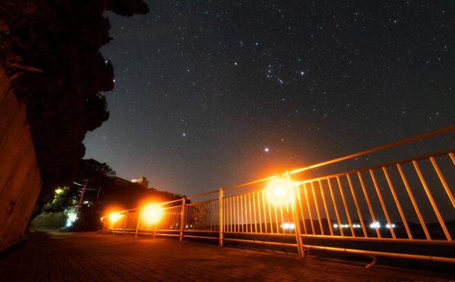 ビン玉ロードへ星空の撮影に行きました(三重県志摩市)
