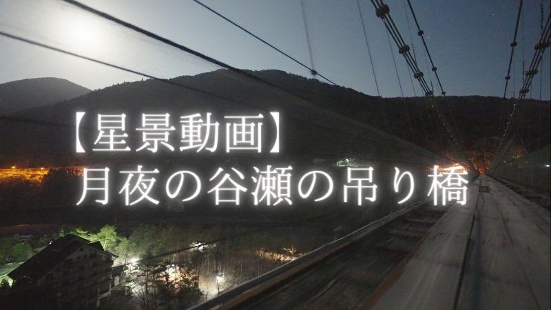 【動画】月夜の谷瀬の吊り橋