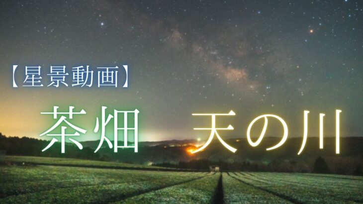 【動画】神野山の茶畑で星空と天の川を動画撮影しました(奈良県山添村)