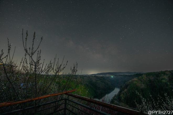 月ヶ瀬梅林 天の川
