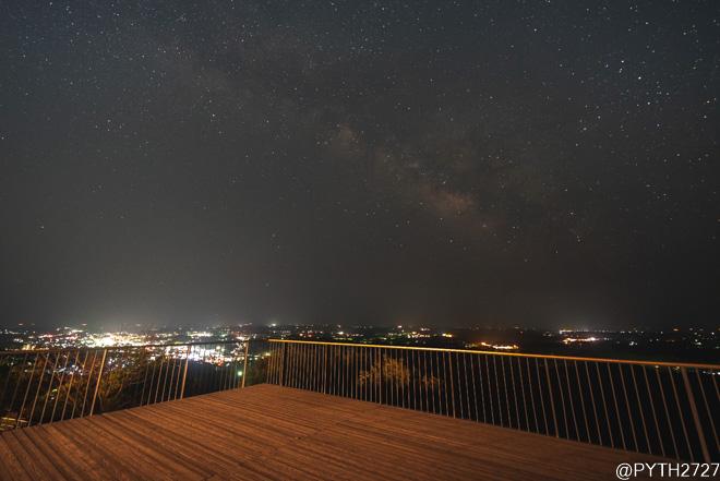 横山展望台 天の川