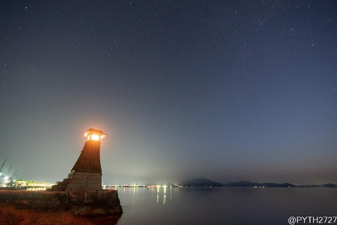 木津港跡 夜