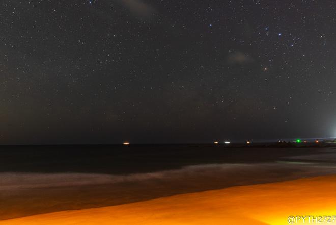 市後浜 夜