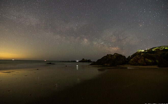 市後浜へ星空の撮影に行きました(三重県志摩市)