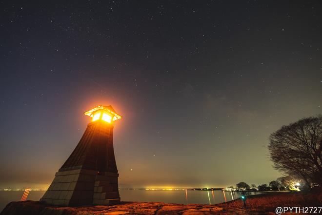 琵琶湖・木津港跡へ星空の撮影に行きました(滋賀県高島市)