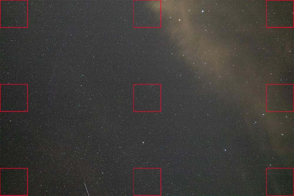 SONY FE14mm F1.8 GM 開放 コマ収差