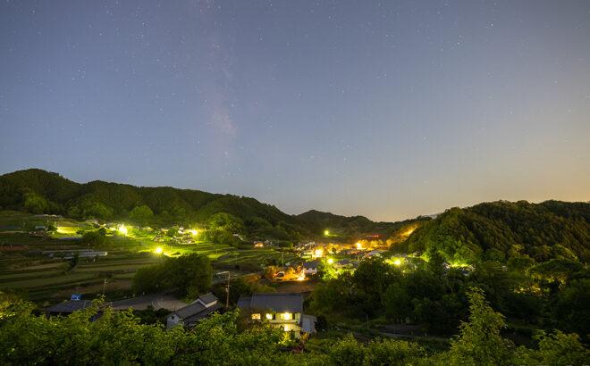 石舞台展望台で星空と天の川を動画撮影(奈良県明日香村)