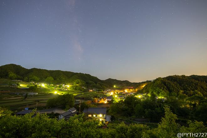 石舞台展望台 天の川