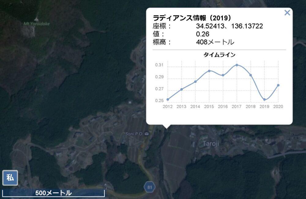 蛍公園 光害マップ